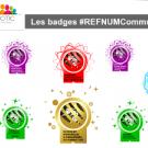 Ensemble badges Référent Numérique