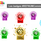 Ensemble badges num Communotic
